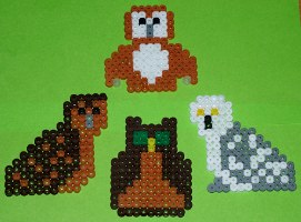 owl hama beads